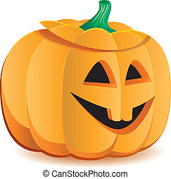 Halloween pumpkin as Jack O`Lantern, part 6, vector...