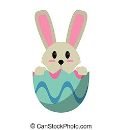 easter bunny in egg surprise