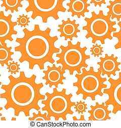 pattern with gear wheel icon mechanims vector illustration