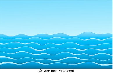 Background with blue sea.