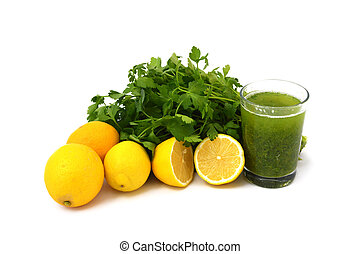 parsley and lemon juice