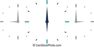 Time logo. Watch icon. Vector flat illustraion. - Time logo....