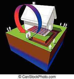 heat pump and underfloor heating diagram - diagram o simple...