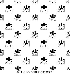 Chemical laboratory flasks pattern, simple style - Chemical...