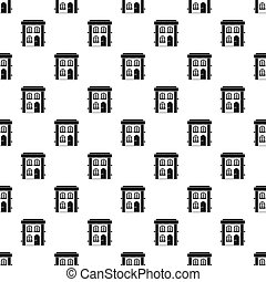 Two-storey residential house pattern, simple style -...