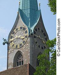 St Peters Church in Zurich, Switzerland