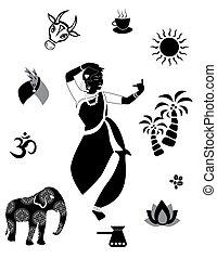 indian set black