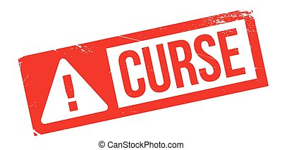Curse rubber stamp. Grunge design with dust scratches....