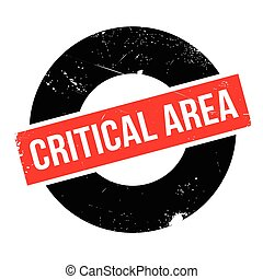 Critical Area rubber stamp. Grunge design with dust...