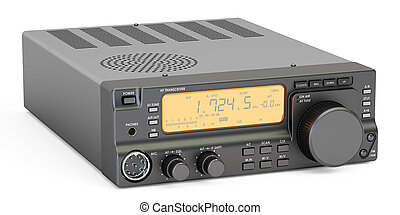 amateur radio transceiver HF, 3D rendering