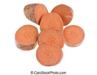 Sweet Potato Slices - The sweet potato (Ipomoea batatas) is...