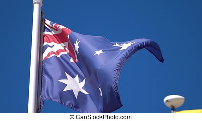 Video of Australian Flag in real slow motion - High quality...