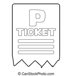 Parking ticket icon, isometric 3d style - Parking ticket...