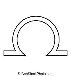 Libra icon, outline style - Libra icon. Outline illustration...