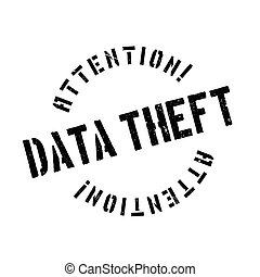 Data Theft rubber stamp. Grunge design with dust scratches....