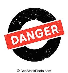 Danger rubber stamp