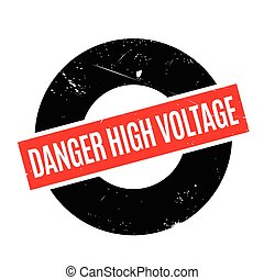 Danger High Voltage rubber stamp
