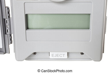 Eject button - Button on a security camera that ejects the...