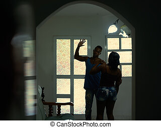 Alcoholism And Violence With Husband Hitting Beating Wife At Home