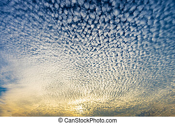 Cloudscape with altocumulus clouds, Altocumulus...