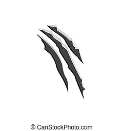 Claw scratchs wild animal nail. Vector illustration eps10