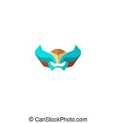 Set of super hero masks in flat style. Big collection...