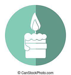 easter candle flame with ribbon decoration shadow vector...