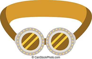 Protective welding goggles icon on the white background.