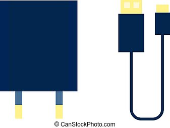 lightning connector. concept of connection, standard input,...