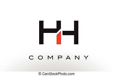 HH Logo. Letter Design Vector. - HH Logo. Letter Design...