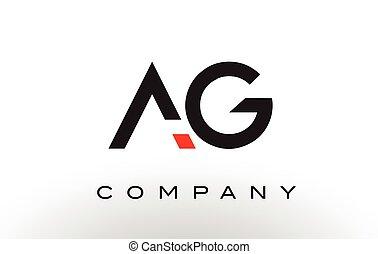 AG Logo. Letter Design Vector. - AG Logo. Letter Design...