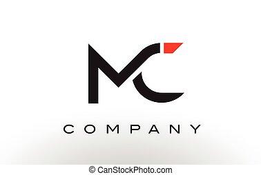 MC Logo. Letter Design Vector. - MC Logo. Letter Design...