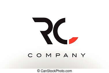 RC Logo. Letter Design Vector. - RC Logo. Letter Design...