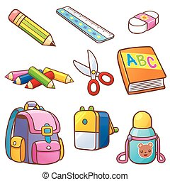 Back to school - Vector illustration of Cartoon Back to...