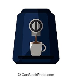 coffee machine icon over white background. colorful design....