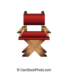 director chair icon over white background. colorful design....