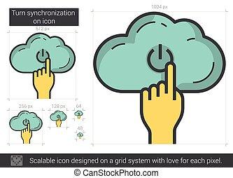 Turn synchronization on line icon. - Turn synchronization on...