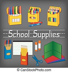 school supplies - School supplies for kindergarten, daycare,...