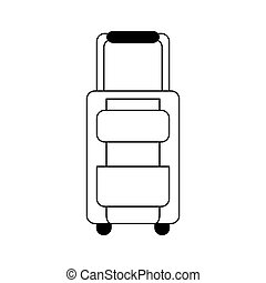 travel briefcase icon over white background. vector...