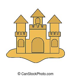sand castle icon over white background. vector illustration