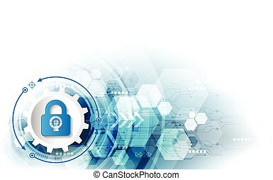 Abstract security digital technology background....