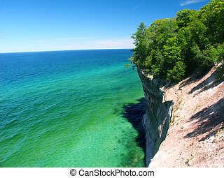 Pictured Rocks - Michigan UP - View of Lake Superior from...