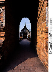 Wat Lok Moli the historical Buddhist Temple in Chiang Mai ,...