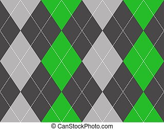 Green gray argyle fabric texture seamless pattern