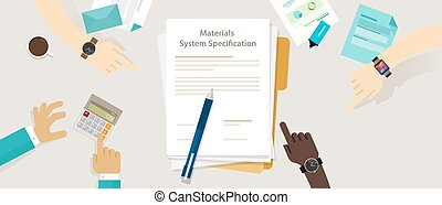 material system specifications project procurement user...