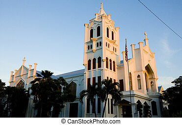 St Pauls Church, Key West, Florida Keys, Florida, USA