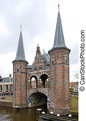 Waterpoort van Sneek, Sneek, Friesland, Netherlands -...