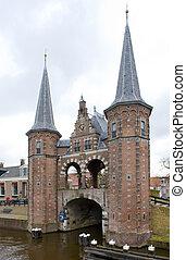 Waterpoort van Sneek, Sneek, Friesland, Netherlands -...