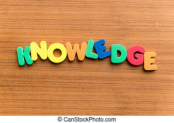 knowledge colorful word - knowledge colorful word on the...