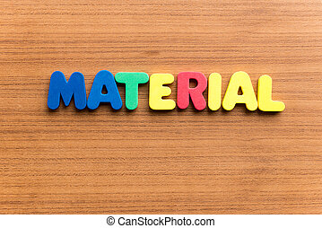 material colorful word - material colorful word on the...
